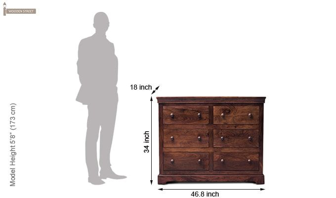 Sheen 6 Drawers Chest (Walnut Finish)-2