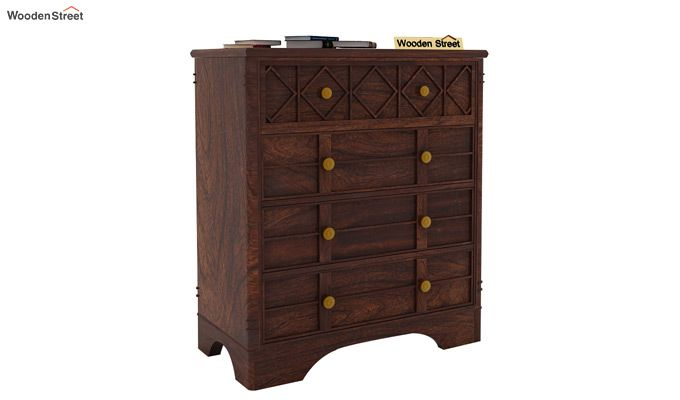 Swirl Chest of Drawers (Walnut Finish)-2