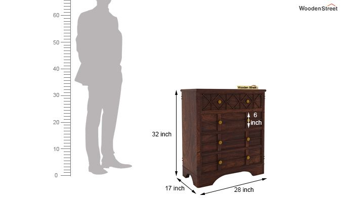 Swirl Chest of Drawers (Walnut Finish)-7