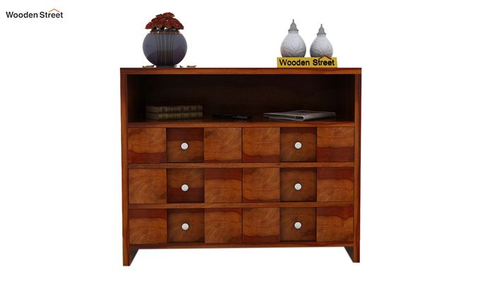 Travis Chest of Drawers (Honey Finish)-2
