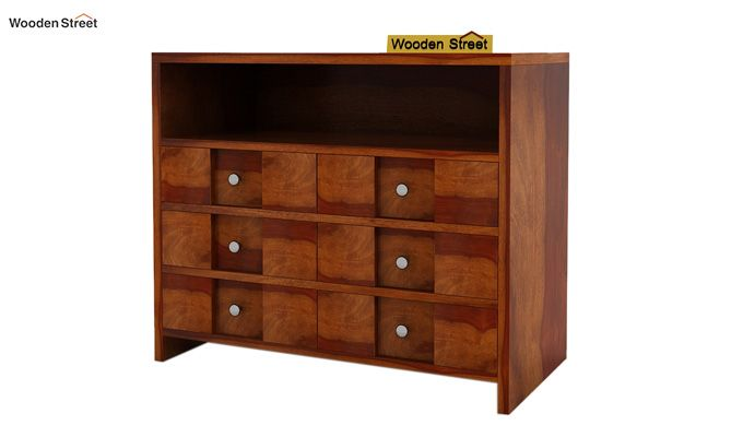 Travis Chest of Drawers (Honey Finish)-4