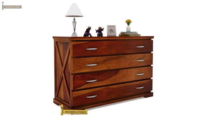 Warner Chest of Drawers (Honey Finish)-2