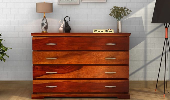 Warner Chest of Drawers (Honey Finish)-1