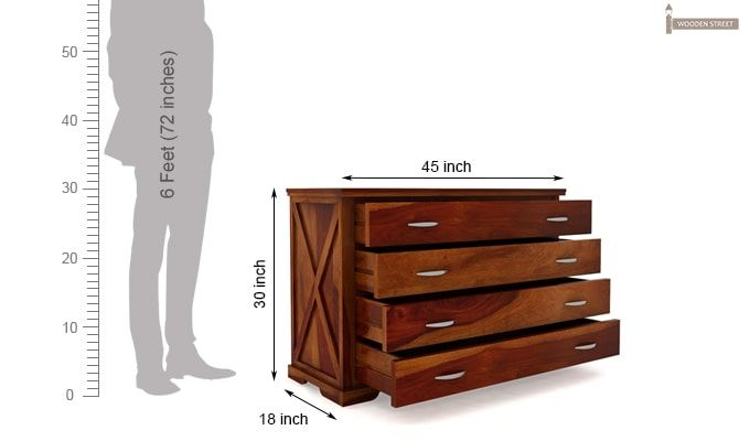Warner Chest of Drawers (Honey Finish)-9