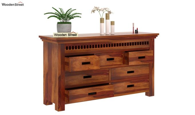 Adolph Chest of Drawers (Honey Finish)-4