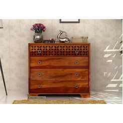 Alexus Chest Of Drawer (Honey Finish)