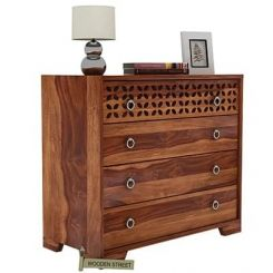 Alexus Chest Of Drawer (Teak Finish)