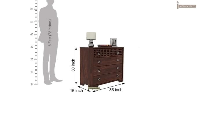 Alexus Chest Of Drawer (Walnut Finish)-3