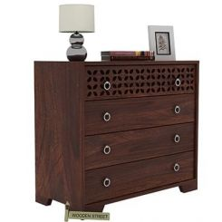 Alexus Chest Of Drawer (Walnut Finish)