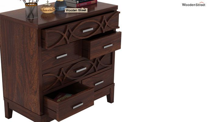 Allan Chest Of Drawers (Walnut Finish)-4