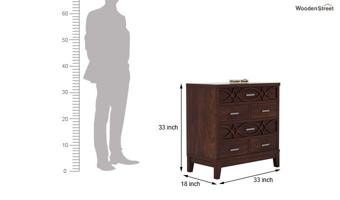 Allan Chest Of Drawers (Walnut Finish)-5