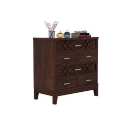 Allan Chest Of Drawers (Walnut Finish)