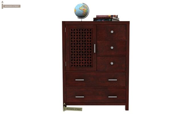 Ambien Chest Of Drawer (Mahogany Finish)-1