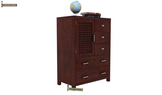 Ambien Chest Of Drawer (Mahogany Finish)-2
