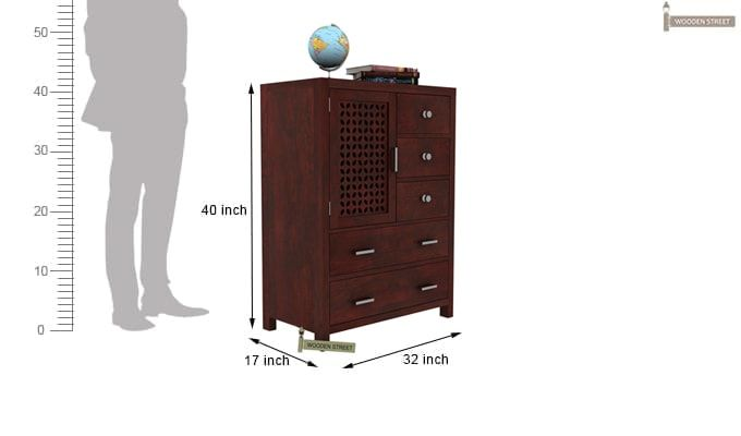 Ambien Chest Of Drawer (Mahogany Finish)-3