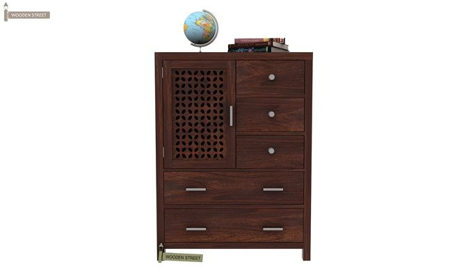 Ambien Chest Of Drawer (Walnut Finish)-1
