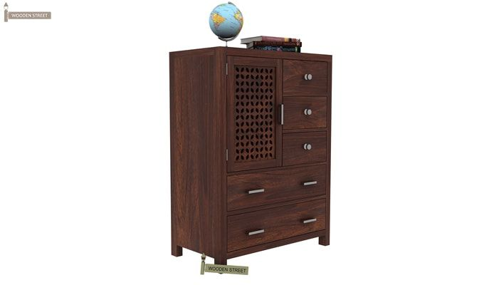 Ambien Chest Of Drawer (Walnut Finish)-2
