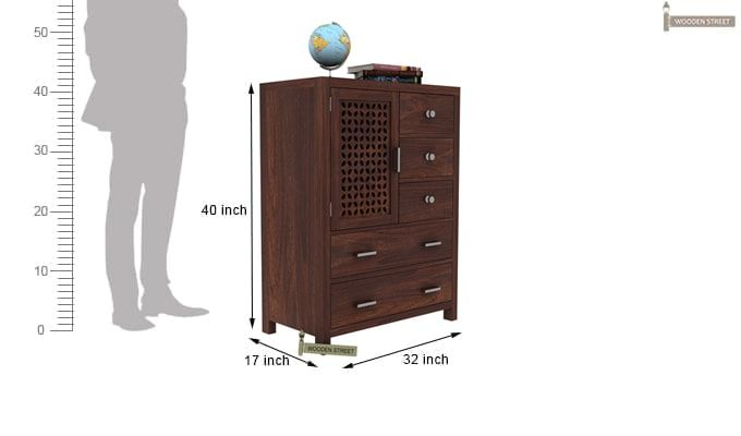 Ambien Chest Of Drawer (Walnut Finish)-3