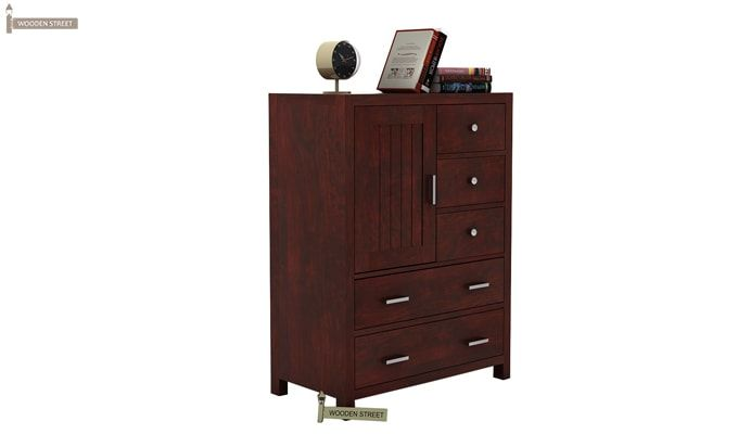 Avalon Chest Of Drawer (Mahogany Finish)-2