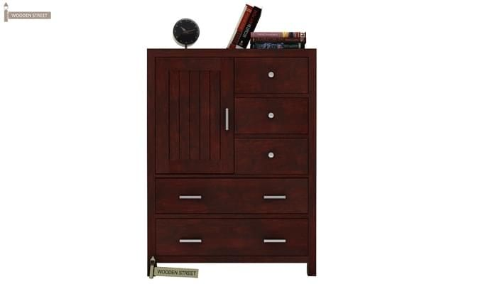 Avalon Chest Of Drawer (Mahogany Finish)-1