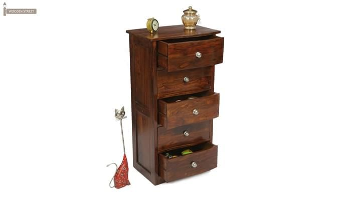 Bavuma Chest Of Five Drawers (Teak Finish)-1