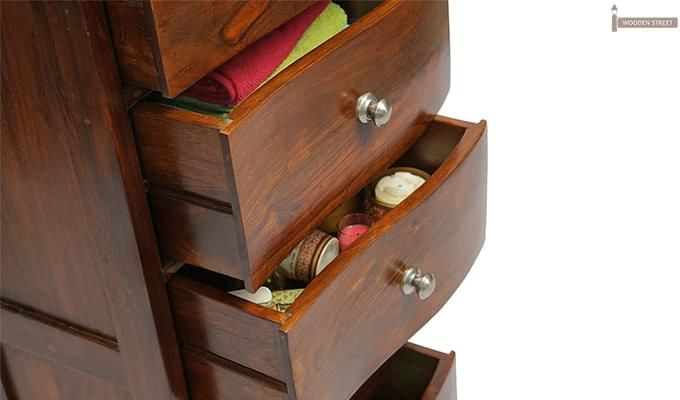 Bavuma Chest Of Five Drawers (Teak Finish)-4