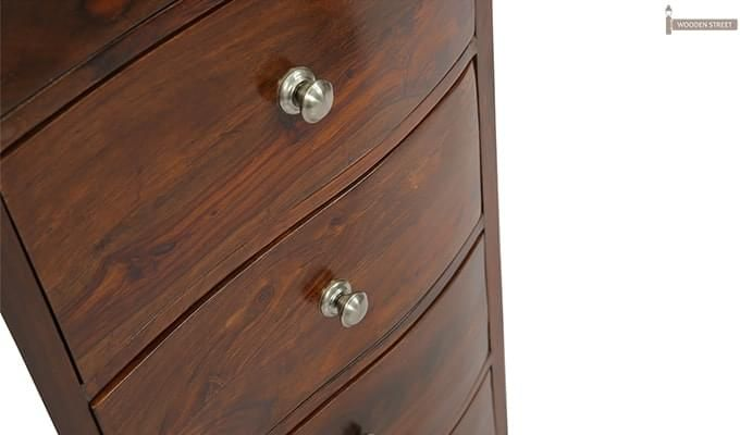 Bavuma Chest Of Five Drawers (Teak Finish)-8
