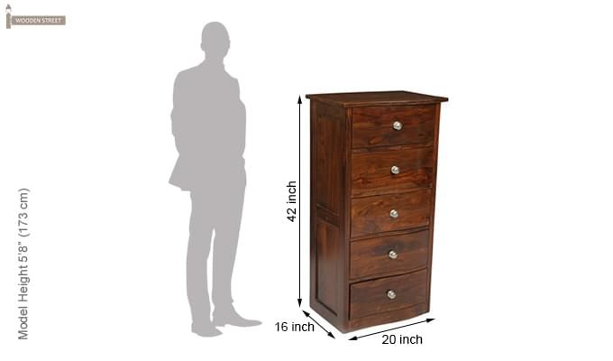 Bavuma Chest Of Five Drawers (Teak Finish)-10
