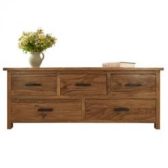 Bedford 5 Drawer Chest (Teak Finish)