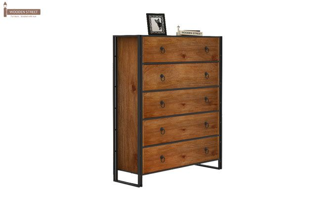 Bron Loft Chest Of Drawers Large (Teak Finish)-2