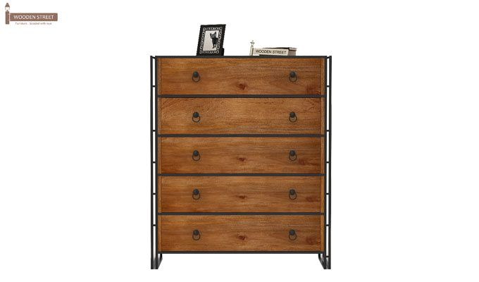 Bron Loft Chest Of Drawers Large (Teak Finish)-3