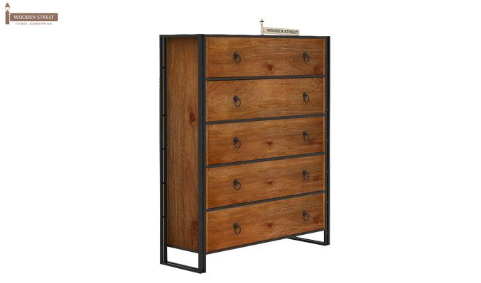 Bron Loft Chest Of Drawers Large (Teak Finish)-4