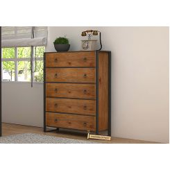 Bron Loft Chest Of Drawers Large (Teak Finish)