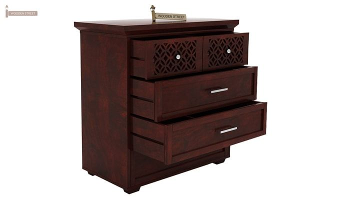 Cambrey Chest Of Drawer (Mahogany Finish)-2
