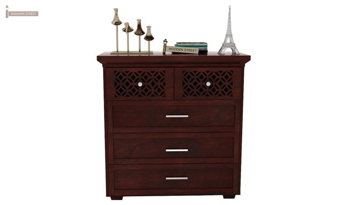 Cambrey Chest Of Drawer (Mahogany Finish)-3