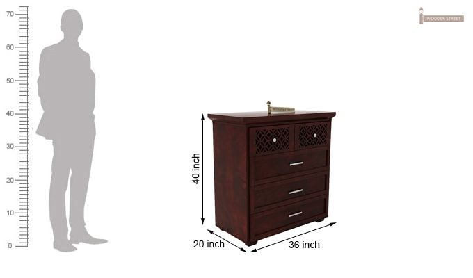 Cambrey Chest Of Drawer (Mahogany Finish)-5