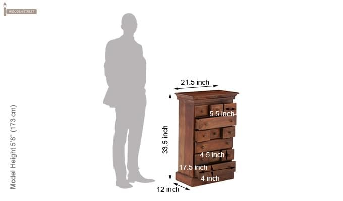 Chaplin Drawers Chest (Teak Finish)-7