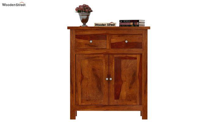 Clovis Cabinet With Drawers (Honey Finish)-2