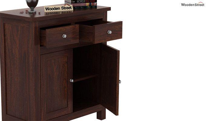 Clovis Cabinet With Drawers (Walnut Finish)-6