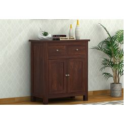 Clovis Cabinet With Drawers (Walnut Finish)