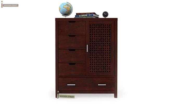 Crisco Chest Of Drawer (Mahogany Finish)-1