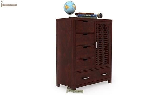 Crisco Chest Of Drawer (Mahogany Finish)-2