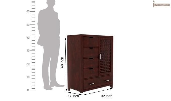 Crisco Chest Of Drawer (Mahogany Finish)-3