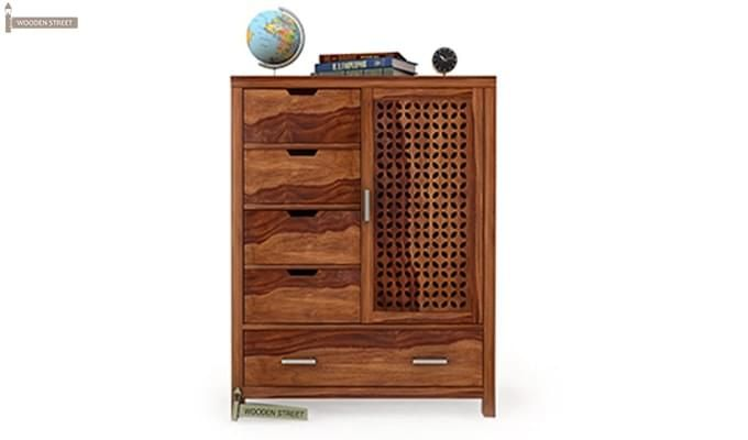 Crisco Chest Of Drawer (Teak Finish)-1
