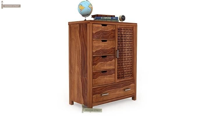 Crisco Chest Of Drawer (Teak Finish)-2