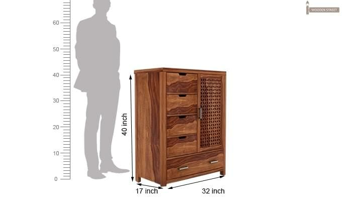 Crisco Chest Of Drawer (Teak Finish)-3