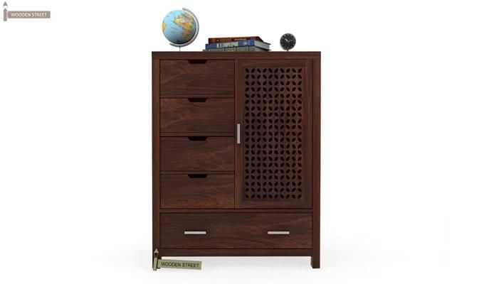 Crisco Chest Of Drawer (Walnut Finish)-1