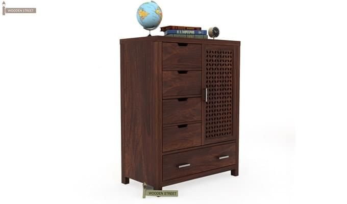Crisco Chest Of Drawer (Walnut Finish)-2