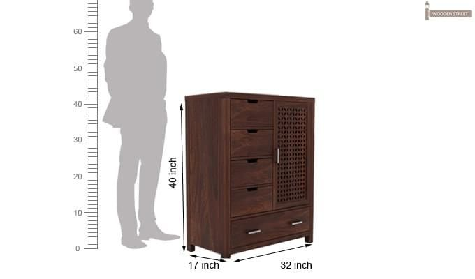 Crisco Chest Of Drawer (Walnut Finish)-3