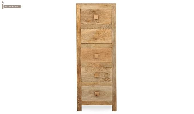 Drake Chest Of Five Drawers (Teak Finish)-3
